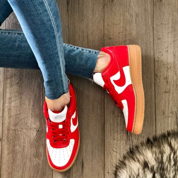 Nike Shoes Nwt Id Air Force 1 Custom Red Poshmark